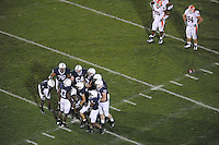 27 September 2008:  Penn State QB Daryll Clark (17) calls a play in the huddle.  The Penn State Nittany Lions defeated the Illinois Fighting Illini 38-24 September 27, 2008 at Beaver Stadium in State College, PA..