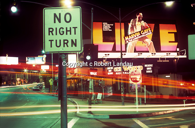 Marvin Gaye billboard on the Sunset Strip circa 1977