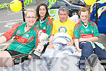 In bed with Billy Keane: Caitrin Griffin, Molly Breen and Hillary Costello  who won the Kerry Ladies Novice Shield. Join Billy Keane last Satuday in a bed push. The event took place from Ballybunion to Asdee. All money raised goes to the Bee for Battens campaign.
