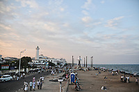 Overlooking Goubert Avenue and Pondicherry beach at late afternoon. Arindam Mukherjee