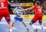 Patrick Zieker (TVB Stuttgart #25) ; Marcel Niemeyer (HBW Balingen-Weilstetten #3) ;   Christoph Foth (HBW Balingen-Weilstetten #18) beim Spiel in der Handball Bundesliga, TVB 1898 Stuttgart - HBW Balingen-Weilstetten.<br /> <br /> Foto © PIX-Sportfotos *** Foto ist honorarpflichtig! *** Auf Anfrage in hoeherer Qualitaet/Aufloesung. Belegexemplar erbeten. Veroeffentlichung ausschliesslich fuer journalistisch-publizistische Zwecke. For editorial use only.