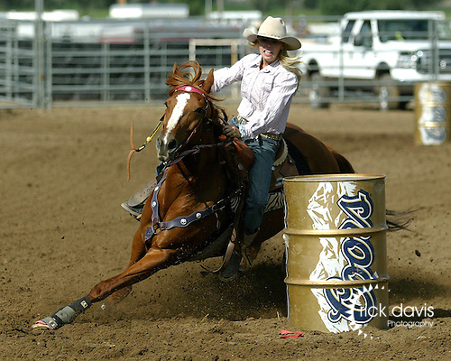 Colorado Pro Rodeo Association barrel racing.