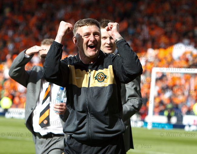 Paul Hegarty celebrates at the end