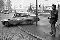 - Milan, Police checkpoint at east perifery during the kidnapping of Aldo Moro(1978<br /> <br /> - Milano, posto di blocco della Polizia alla periferia est durante il sequestro di Aldo Moro (1978)