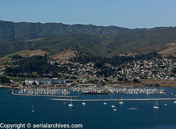 aerial photograph Pillar Point Harbor San Mateo County, California