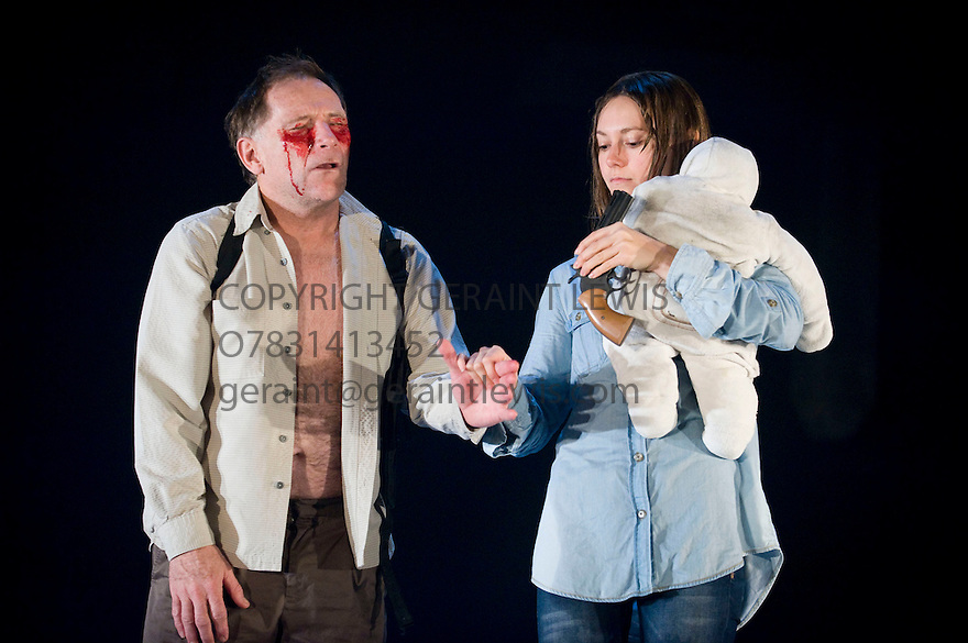 Blasted by Sarah Kane,directed by Sean Holmes .With Danny Webb as Ian,Lydia Wilson as Cate.Opens at The Lyric Hammersmith  Theatre  on 28/10/10  CREDIT Geraint Lewis