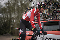 Tim Wellens (BEL/Lotto Soudal)<br /> <br /> Team Lotto-Soudal at the Liège-Bastogne-Liège 2017 recon