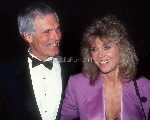 Ted Turner and Jane Fonda 1991<br /> Photo By John Barrett/PHOTOlink/MediaPunch