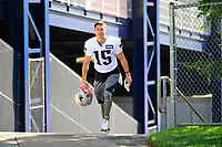 July 28, 2017: New England Patriots wide receiver Chris Hogan (15) walks to the practice fields for the New England Patriots training camp held at Gillette Stadium, in Foxborough, Massachusetts. Eric Canha/CSM