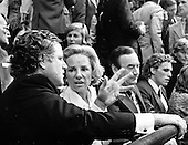 "New York, NY - (FILE) -- United States Senator Edward M. ""Ted"" Kennedy (Democrat of Massachusetts), left, shares some thoughts with his sister-in-law Ethel Kennedy, left center, in the V.I.P. Box at the 1976 Democratic National Convention in New York, New York on July 15, 1976.  At right center is Governor Hugh Carey (Democrat of New York), and at right is Joseph P. Kennedy, II, eldest son of the late U.S. Senator Robert F. Kennedy (Democrat of New York) and Ethel Kennedy..Credit: Arnie Sachs / CNP"