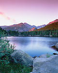 daybreak at Bear Lake in Rocky Mountain National Park, Colorado, USA
