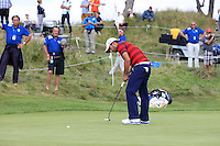 Pablo Larrazabal (ESP) on the 9th during Round 2 of the KLM Open at Kennemer Golf &amp; Country Club on Friday 12th September 2014.<br /> Picture:  Thos Caffrey / www.golffile.ie