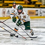 30 November 2018: University of Vermont Catamount Forward Ève-Audrey Picard, a Junior from Longueuil, Québec, in second period action against the University of Maine Black Bears at Gutterson Fieldhouse in Burlington, Vermont. The Lady Cats were edged out by the Bears 2-1 in the first game of their 2-game Hockey East series. Mandatory Credit: Ed Wolfstein Photo *** RAW (NEF) Image File Available ***