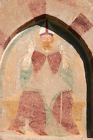 Fresco of San Vigilio on the church of San Vigilio in Pinzolo, Trentino, Italy