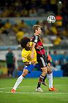 Dante (BRA), Thomas Muller (GER), JULY 8, 2014 - Football / Soccer : FIFA World Cup Brazil 2014 Semi Final match between Brazil 1-7 Germany at Estadio Mineirao in Belo Horizonte, Brazil. (Photo by Maurizio Borsari/AFLO)