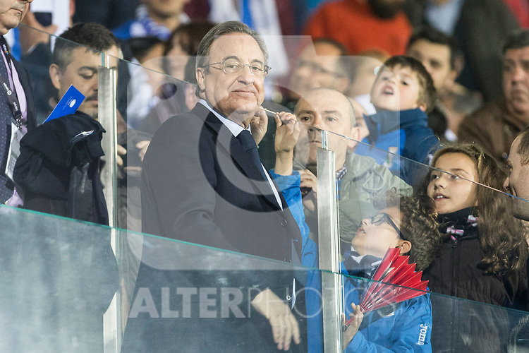 Florentino Perez president of Real Madrid during the match of  La Liga between Club Deportivo Leganes and Real Madrid at Butarque Stadium  in Leganes, Spain. April 05, 2017. (ALTERPHOTOS / Rodrigo Jimenez)