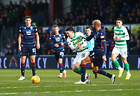 1st December 2019; Global Energy Stadium, Dingwall, Highland, Scotland; Scottish Premiership Football, Ross County versus Celtic; Lewis Morgan of Celtic is fouled by Liam Fontaine of Ross County - Editorial Use