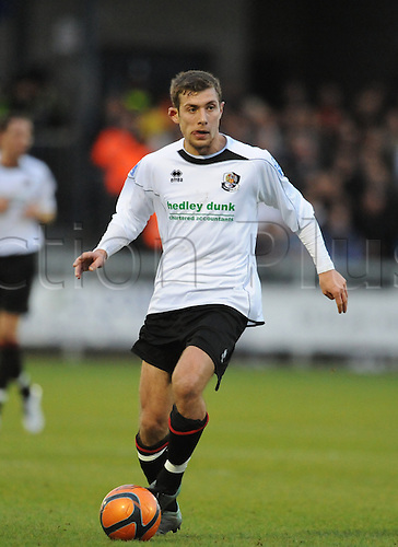 06.11.2010 FA Cup 1st Round from Princes Park,Dartford v Port Vale. Dartfords Ryan Hayes in action during their draw with Port Vale