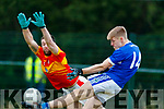 Killian Spillane Templenoe in action against Dermot O'Herlihy Éire Óg in the AIB Munster Intermediate Club Football Championship at Ovens.
