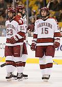 Mike Taylor (Harvard - 23, Ryan Maki (Harvard - 7), Doug Rogers (Harvard - 15) - The Northeastern University Huskies defeated the Harvard University Crimson 3-1 in the Beanpot consolation game on Monday, February 12, 2007, at TD Banknorth Garden in Boston, Massachusetts.