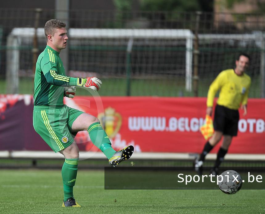 Scotland U19 - Belgium U19 : Jack Hamilton.foto DAVID CATRY / Nikonpro.be