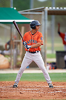 GCL Astros Andres Santana (59) during a game against the GCL Marlins on July 22, 2017 at Roger Dean Stadium Complex in Jupiter, Florida.  GCL Astros defeated the GCL Marlins 5-1, the game was called in the seventh inning due to rain.  (Mike Janes/Four Seam Images)