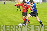 Tralee Dynamos Uros Ivkovic and Athlone Town's Sean Garvey.