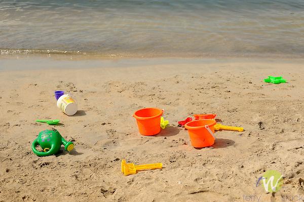Westin Resort, St. John, USVI, Caribbean. Plastic beach toys.