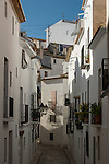 Typical streets of old Altea village, Alicante,Spain,Europe
