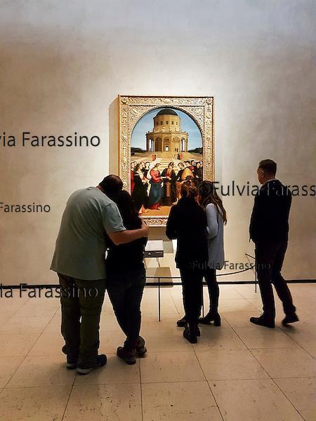 Milano, Pinacoteca di Brera 10 novembre 2016<br /> Piero della Francesc,  Sposalizio della Vergine<br /> Oggi la Pinacoteca &egrave; aperta gratuitamente al pubblico