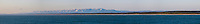 Russia, Sakhalin, Sea of Okhotsk. Sakhalin coastline. Panorama view.