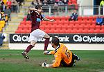 St Johnstone v Hearts....24.03.12   SPL.Jason Holt celebrates his goal.Picture by Graeme Hart..Copyright Perthshire Picture Agency.Tel: 01738 623350  Mobile: 07990 594431