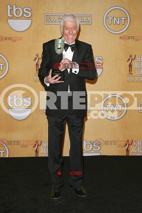 LOS ANGELES, CA - JANUARY 27: Dick Van Dyke in the press room at The 19th Annual Screen Actors Guild Awards at the Los Angeles Shrine Exposition Center in Los Angeles, California. January 27, 2013. Credit: mpi27/MediaPunch Inc. /NortePhoto /NortePhoto