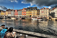 Artists at Nyhavn Harbour, Copenhagen