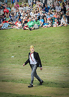 'Donald Trump&quot; plays cricket for the Villains against the Heroes during a fun match at the Wilderness Festival in Oxfordshire, August 6, 2017. <br /> CAP/CAM<br /> &copy;Andre Camara/Capital Pictures