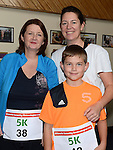 Wendy Lynch and Jack and Jeanine Carolan who ran the Ferdia Challange 5K run in Ardee. Photo:Colin Bell/pressphotos.ie