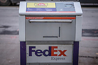 A FedEx Express box is pictured in Ottawa Tuesday November 18, 2014. FedEx Express, formerly Federal Express, is a subsidiary of FedEx Corporation, delivering packages and freight.