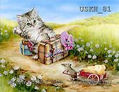 Kayomi, CUTE ANIMALS, paintings, HitchHike_M, USKH81,#AC# illustrations, pinturas ,everyday