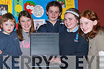 "CHILDREN: Children from Ardfert Community Games with their project ""Health Squad"" at the Kerry Community Games Project Final at the KDYS, Denny Street, Tralee, on Friday. L-r: Tadgh Carmody, Jordan Costello, Una Marley, Eimear Leahy and Jennifer Blackwell.."