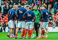 Nottingham Forest's fitness coach Carlos Cachada warms up the team during the Sky Bet Championship match between Nottingham Forest and Derby County at the City Ground, Nottingham, England on 10 March 2018. Photo by Stephen Buckley / PRiME Media Images.