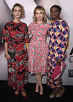 "BEVERLY HILLS, CA - APRIL 6:  Sarah Paulson, Leslie Grossman and Adina Porter at the For Your Consideration Red Carpet event for FX's ""American Horror Story: Cult"" at the WGA Theater on April 6, 2018 in Beverly Hills, California. (Photo by Scott Kirkland/Fox/PictureGroup)"