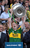 Colm Cooper  lifts the Sam maguire Cup after the All-Ireland Final in 2007. But will he raise it as captain next Sunday?<br /> Picture by Don MacMonagle