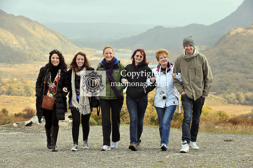 At Molls Gap, Killarney  are Teresa Aprahamian, Megan Eileen McDonoghue, Joe Bill, Anne-Marie Finnerty, Failte Ireland, Kerstin Gadeke, Giabi Gioerdel-Klages..Picture by Don  MacMonagle..further info from Jasmine O'Brien Tourism Ireland.jobrien@tourismireland.com