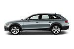 Car driver side profile view of a 2013-2016 Audi A4 Allroad Premium Quattro 4 Door Wagon
