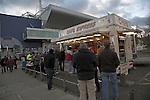 Fast food burger van on football match day, Portman Road, Ipswich, Suffolk, England