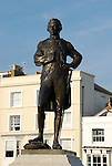 Statue of Admiral Horatio Nelson in Grand Parade, Portsmouth, Hampshire, England