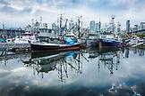 CANADA, Vancouver, British Columbia, Fisherman's Warf near Granville Island