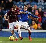 03.04.2019 Rangers v Hearts: Olly Lee and Steven Davis