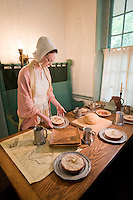 Reenactor inside the c1750 Indian King Tavern Museum, New Jersey State Historic Site, Haddonfield, New Jersey