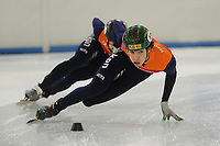 Shorttrack training Thialf 030117<br /> Dylan Hoogerwerf<br /> &copy;foto Martin de Jong